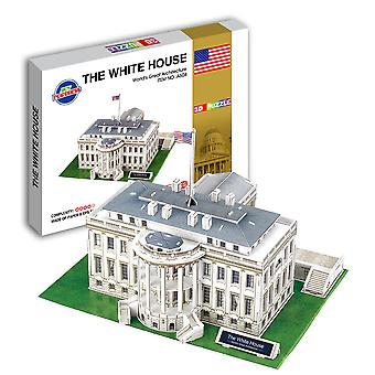 Educational 3d Model Puzzle White House Diy Toy