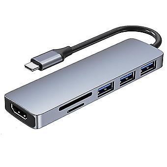 Adaptér dokovací stanice pro periferní dokovací stanici notebooku typu 6 v 1 typu c az7993