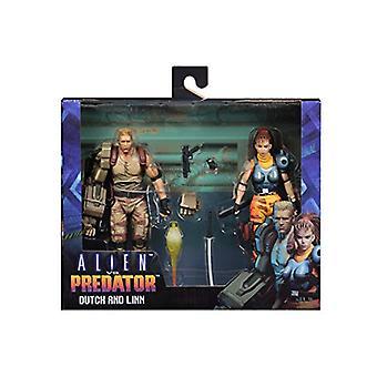 Holländska & Lin (Alien Vs ) Arcade 2 Pack Neca Action Figur