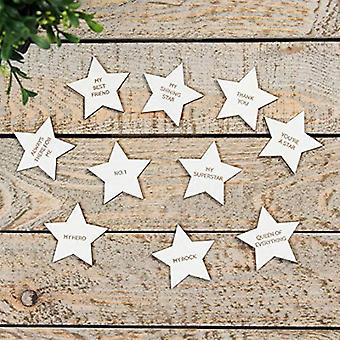 Shining Star Set of 10 Individual Stars