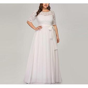 Casamento Sempre-bonito A-line O-neck Vestido