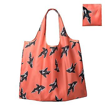 Waterproof Reusable Grocery Bags ,washable Shopping Bags  Foldable(Color2)