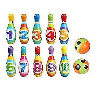 Kinderen Indoor Sport Bowling Toy Pu Bowling Set Ouder-kind Interactief Speelgoed(L)