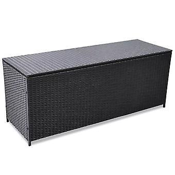vidaXL Hage-Auflagenbox Svart 150x50x60 cm Poly Rotting