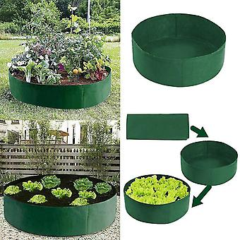 Round Planting Container Grow Bags Planter Pot Fabric Garden Raised Bed