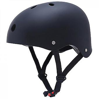 Skateboard Helmet Impact Resistance Ventilation Rock Climbing Ski Sports Helmet(Black)