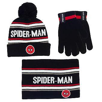 Marvel Comics Spiderman Face Jongens Muts Handschoenen & Snood Set