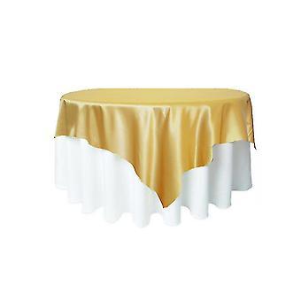 الساتان مفرش المائدة الجدول تغطية المائدة المستديرة القماش اللون الصلب لحفلة عيد ميلاد الزفاف ديكور المنزل