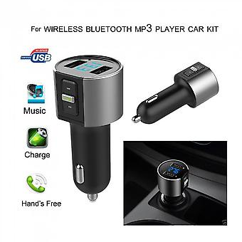 Car Mp3 Player Bluetooth Fm Transmitter Radio Adapter Dual Usb Port Charger
