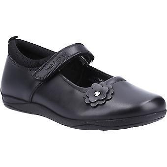 Hush puppies kid's zara senior school flat shoe black 32732