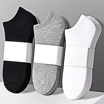 10 Pairs Fashion Women Socks Breathable Sports Comfortable Cotton Solid Color White Black?ankle Sock To Absorb Sweat L101