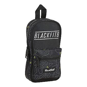 Estuche de lápiz de mochila BlackFit8 Topografía Negro Verde