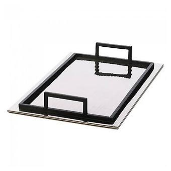 Accent Plus Rippled Mirrored Aluminum Serving Tray - Rectangle, Pack of 1