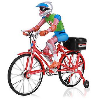 Elektrische fietsen fiets voertuig speelgoed met lichte muziek racing motor RC motorfietsen (rood)