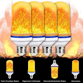 Led Lamps For Halloween/christmas, 4w E27 Base Pack Of 4