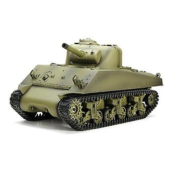 "2.4Ghz מכונית RC 1:16 ארה""ב שרמן משודרג Crawler מרחוק נשלט רכב טנק צבאי"
