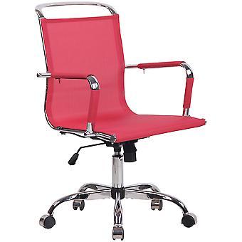 Toimistotuoli - Työpöytätuoli - Kotitoimisto - Moderni - Punainen - Metalli - 58 cm x 63 cm x 93 cm
