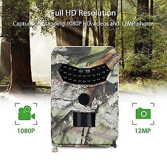 Vadászkamera 12 megapixeles fotó éjszakai csapda vizuális nyomkövető kamera 1080p Wild Boy Scout Hunter