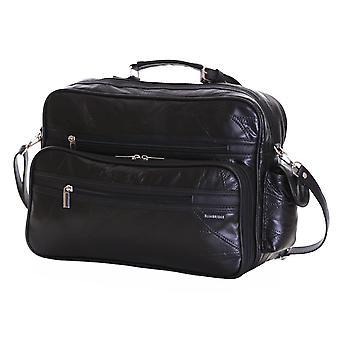Slimbridge Kamen Leder Reisetasche, schwarz