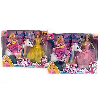Hevonen ja prinsessa nukke Set tarvikkeet tyttöjen pelata lelut