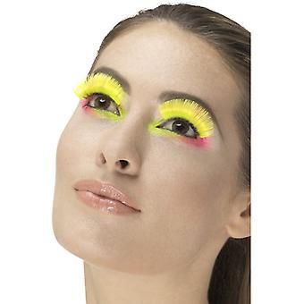 80 řas eyelash neonové žluté