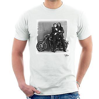 Ian Astbury und Renee Beach Motorrad Herren T-Shirt weiß