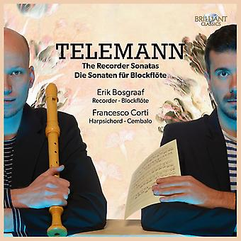 Erik Bosgraaf & Francesco Corti - Telemann: Recorder Sonatas [CD] USA import