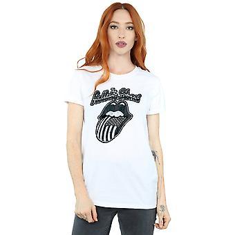 Rolling Stones Women's Monochrome American Tongue Boyfriend Fit T-Shirt