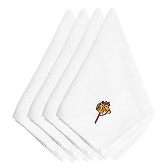 Christmas Hobby Horse Embroidered Napkins Set of 4