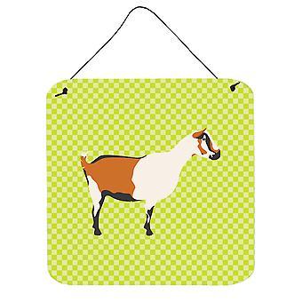 Carolines trésors BB7706DS66 chèvre Alpine Green mur ou porte accrocher impressions