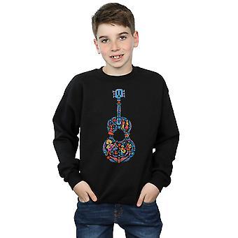 Disney Boys Coco Guitar Pattern Sweatshirt