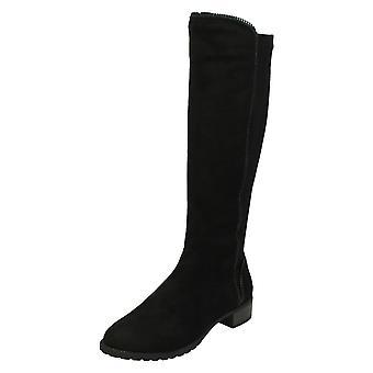 Spot de senhoras em meados calcanhar bezerro botas F50868