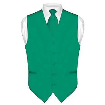 男式礼服背心和领带实心颈领带套装礼服