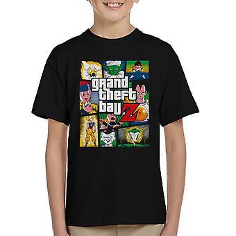 Grand Theft Ball Z Grand Theft Auto Dragon Ball Z Kinder T-Shirt