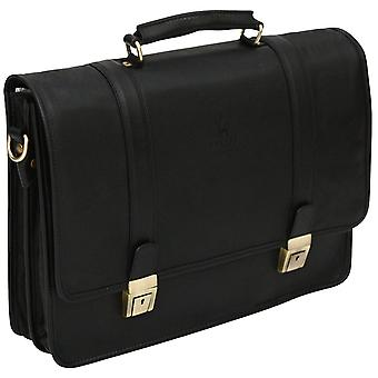 Genuine Leather Top Handle Soft Leather Briefcase Business Bag Case Made In Italy