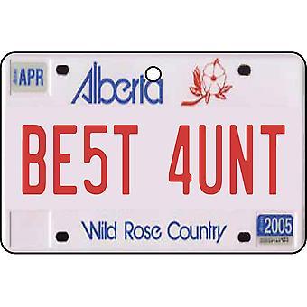 Alberta - beste tante License Plate auto luchtverfrisser