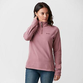 Nieuwe Brasher vrouwen Bleaberry II Walking Hiking half-Zip Fleece roze