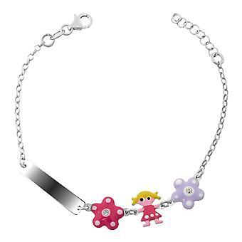Orphelia argent 925 enfants Bracelet fleurs + poupée Zirc ZA-7147