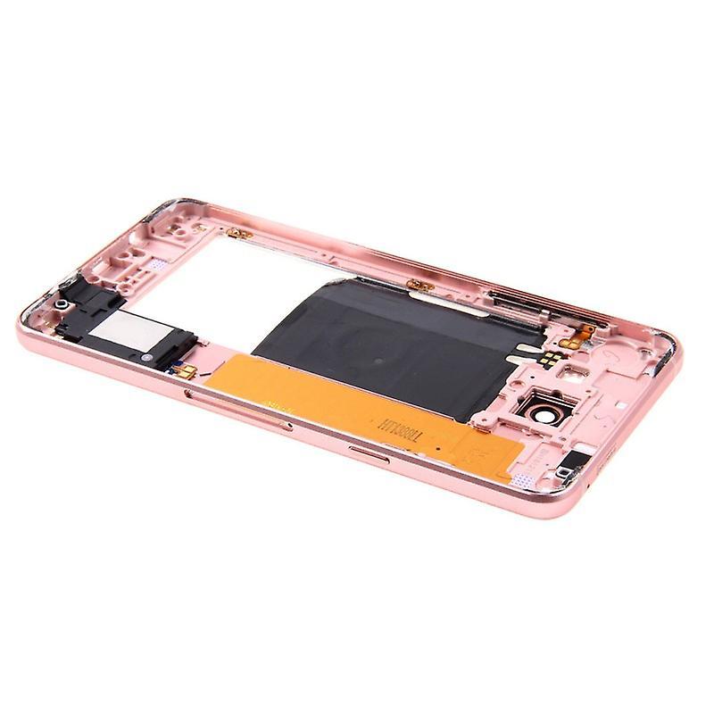Medium frame kamera glas case för Samsung Galaxy A5 2016 A510F rosa