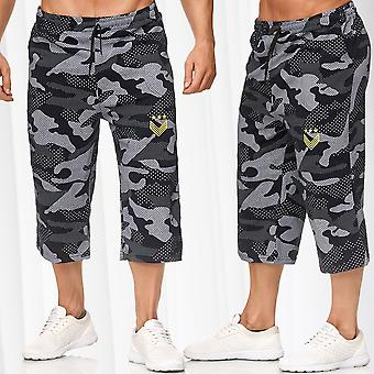 Men's Bermuda Pants Elasticated Jogger Sweat Camouflage Jogging Sport Shorts