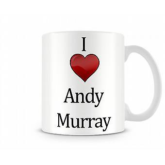 Ich liebe Andy Murray bedruckte Becher