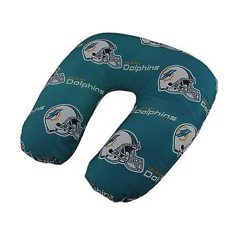 NFL Miami Dolphins Team Logo Beaded Travel Neck Pillow