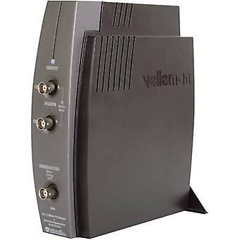 Velleman PCSGU250 USB oscilloscoop 12 MHz 2-kanaals 4 kSa/s 4 KP 8 bit digitale opslag (DSO), functiegenerator, Spectrum Analyzer