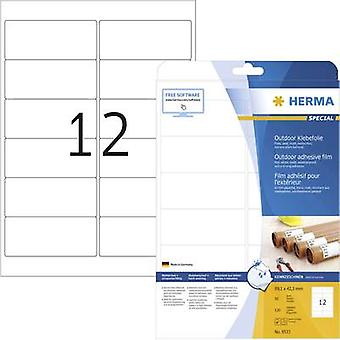 Herma 9533 Labels 99.1 x 42.3 mm PE film White 120 pc(s) Permanent All-purpose labels, Weatherproof labels