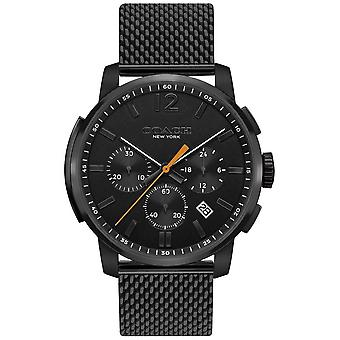 Coach Mens Bleecker Multifunction Chrono | Black Mesh Strap 14602344 Watch