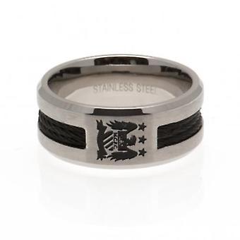 Manchester City Black Inlay Ring Small EC