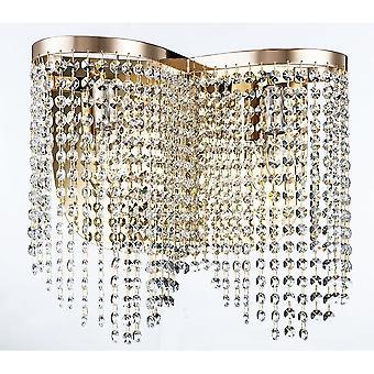Maytoni verlichting strikken Diamant Crystal Schans, goud