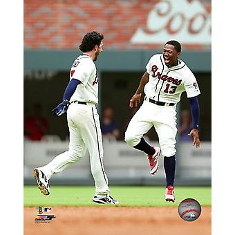 Dansby Swanson & Ronald Acuna 2018 Action Photo Print