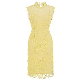 Sleeveless Lemon Crochet Dress