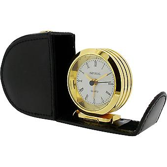 Gift Time Products Leather Case Alarm Clock - Gold/Black